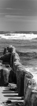 Wellenbrecher | Echtes Leinenbild