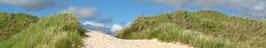 Strandweg | Echtes Leinenbild