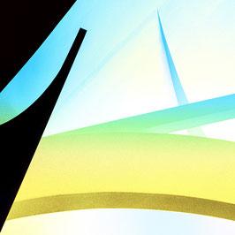 Luft nach oben | Echtes Leinenbild