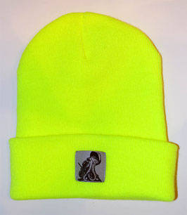 .Junior Beanie Fluorescent Yellow.