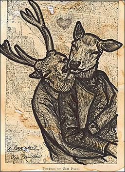 .My deer Postkarte.