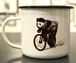 .Fixie Panda Emaille-Becher.
