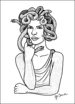 .Medusa Postkarte.