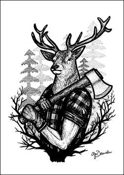 .Lumberdeer Postkarte.