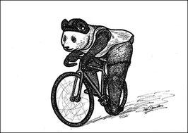 .Fixie Panda Postkarte.
