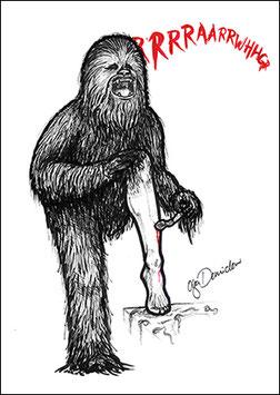 .ChewbaccAAAHHH Postkarte.