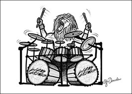 .Lions Growls - Drums Poster.