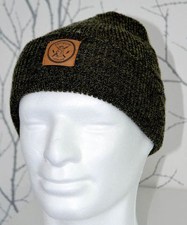 .Beanie Antique Moss Green.