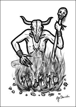 .Wicca Postkarte.