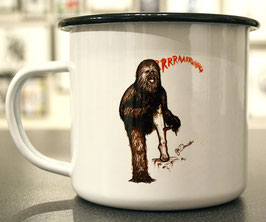 .ChewbaccAAAHHH Emaille-Becher.