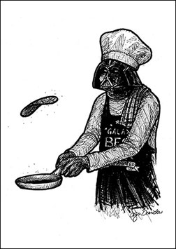 .Darth Cook Postkarte.