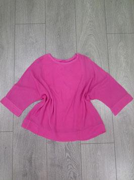 Bluse 3/4 Arm mit eingenähtem Top, Größe: onesize, pink