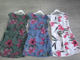 **NEU** Kleider mit Blumendruck, Größe: S & M, Farben: olive, jeansblau, weiß