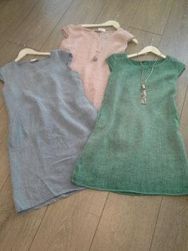 **NEU** Kleider einfarbig in den Farben: jeansblau, rosa, grün