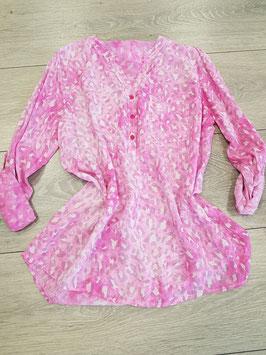 **NEU** Bluse pink,  mit Leoprint, onesize (bis Grösse 44)