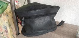 Handtasche glatte Lederoptik in grau