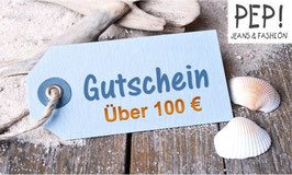 Pep-Jeans Geschenkgutschein im Wert von 100 Euro