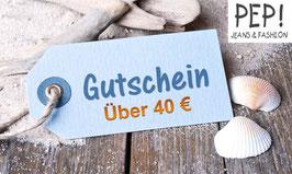 Pep-Jeans Geschenkgutschein im Wert von 40 Euro