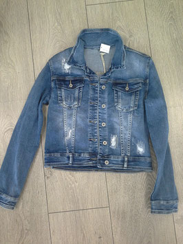 Jeansjacke kurz, used look, verschiedene Größen L, M ,XL Farben:  jeansblau, hellgrau