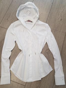 **NEU** Bluse weiß mit Kaputze hinten aus Shirtstoff in verschiedenen Größen: XS, M, L, XL