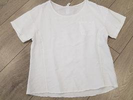 **NEU** Bluse  weiß mit zwei Ziernähten vorne, onesize, (bis Größe 40)