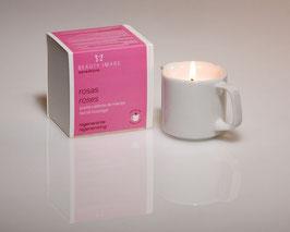 Velas de aceite de masaje regenerante Rosas