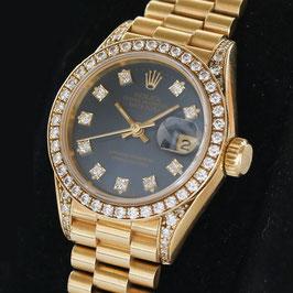 Rolex Lady Datejust 750 / 18K Gelbgold, Diamaten Ref.: 69158
