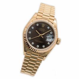 Rolex Lady Datejust 750 / 18K Gelbgold, Diamatzifferblatt Ref.: 69178