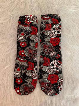 Socken Love Skulls Red