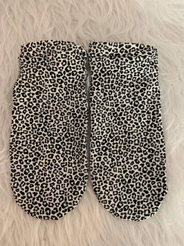 Sneakers Socken Leopard Black and White