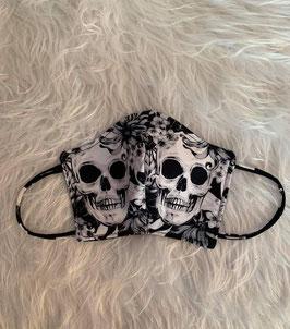 Maske Skulls Black and White