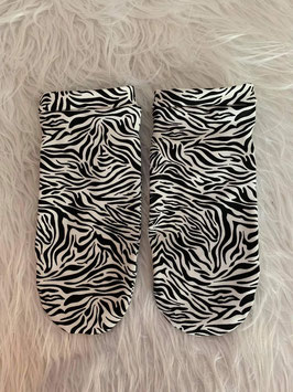 Sneakers Socken New Zebra Black and White