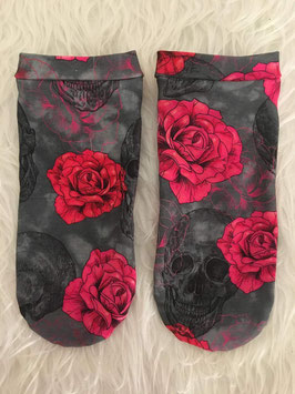 Sneakers Socken Skulls and Roses