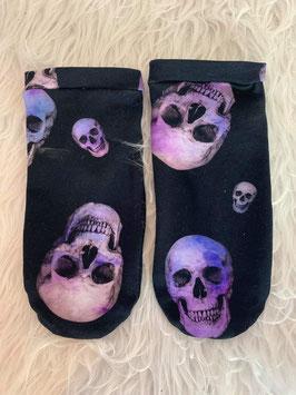 Sneakers Socken Skulls Violet