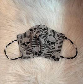 Maske Skulls Grau