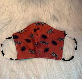 Maske Leoparde auf Braun