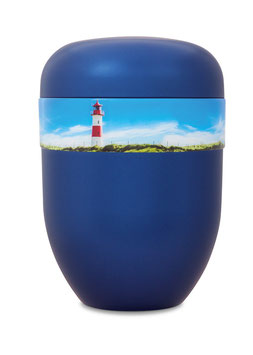 B1-4-6 Bio-Urne blau, Leuchtturm