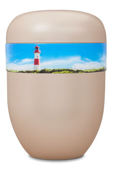 B1-0-6 Bio-Urne weiss, Leuchtturm