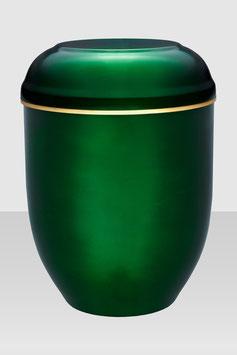 10-200 Stahlurne grün mit Goldband