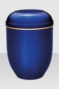 10-300 Stahlurne blau mit Goldband