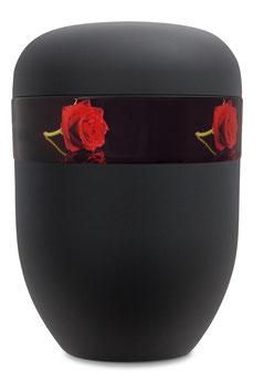 B1-5-2 Bio-Urne schwarz, Rose