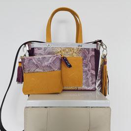 shopper tote bag met los etui en accessoire