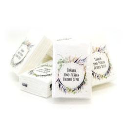 """Papiertaschentücher """"Tränen sind Perlen deiner Seele"""""""