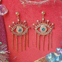 Majestic Eye Statement Earrings
