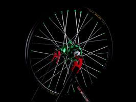Radsatz Kawasaki ► Excel Felge Schwarz | Kite Nabe Grün | Speichen Silber | Nippel Grün