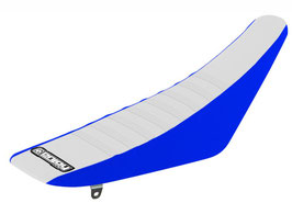 Sitzbankbezug Yamaha White Top - Blue Sides - White Ribs
