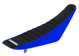 Sitzbankbezug Yamaha Black Top - Blue Sides - Black Ribs