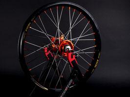 Radsatz KTM ► Excel Felge Schwarz | Kite Nabe Orange | Speichen Silber | Nippel Orange