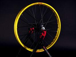 Radsatz Kawasaki ► Excel Felge Gelb | Nabe Schwarz | Speichen Schwarz | Nippel Schwarz