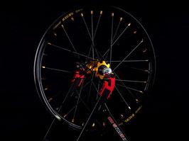 Radsatz Kawasaki ► Excel Felge Schwarz | Nabe Gold | Speichen Schwarz | Nippel Gold